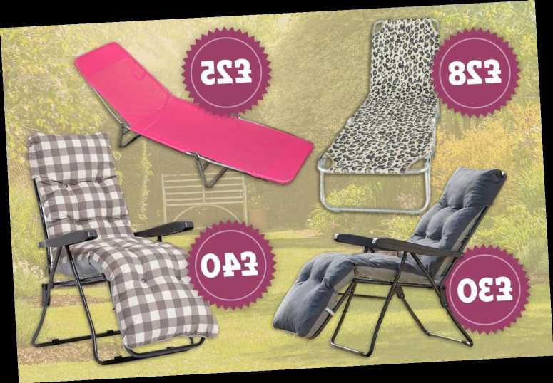 Cheapest sun loungers from shops like Asda and B&M with prices starting from £25