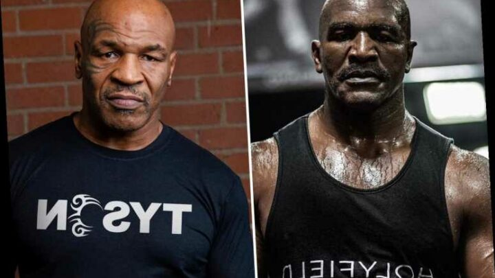 Evander Holyfield reveals Mike Tyson trilogy fight will be announced soon as rivals with combined age of 112 collide