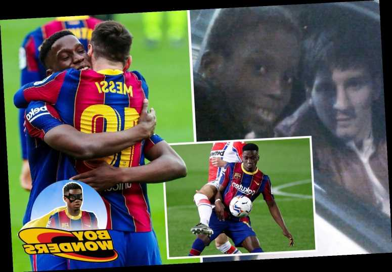 Barcelona wonderkid Ilaix Moriba was JUST two when Lionel Messi won his first LaLiga title, now he's playing with him