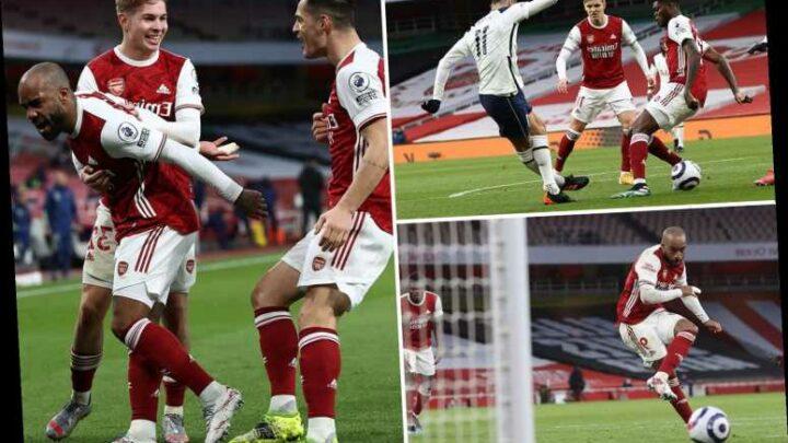 Arsenal 2 Tottenham 1: Gunners don't miss Aubameyang as Lacazette and Odegaard earn derby spoils against 10-man Spurs