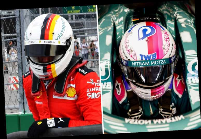 Sebastian Vettel ditches famous Germany F1 helmet for pink BWT design to promote clean drinking water