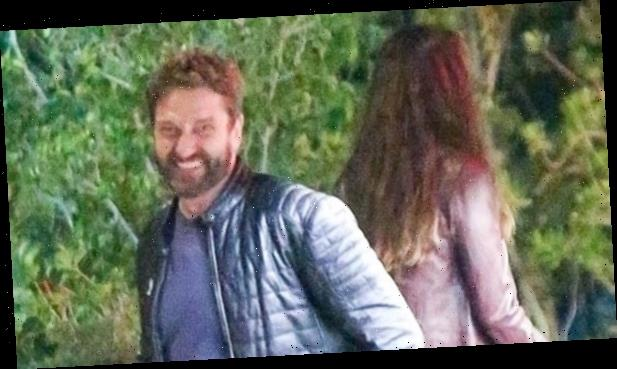 Gerard Butler Is All Smiles During Date Night with Morgan Brown