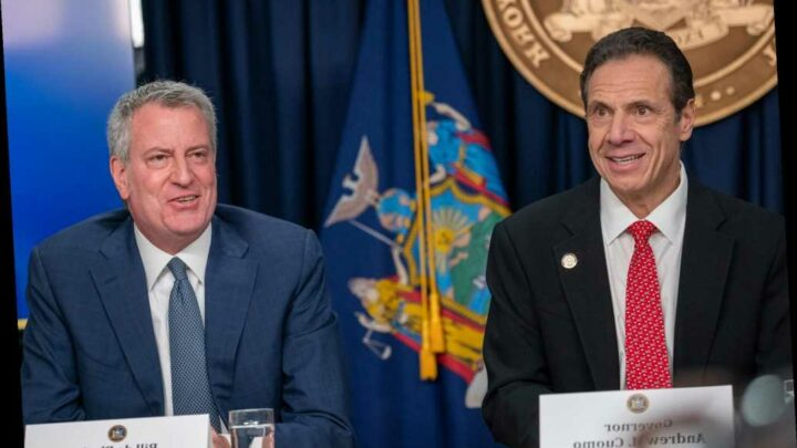 De Blasio says he's given up working with Gov. Cuomo