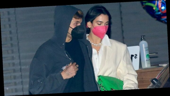 Dua Lipa's Date Night Look Has Convinced Us to Try Out the Colorful Tight Trend