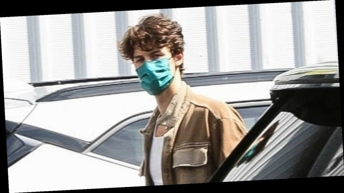Shawn Mendes Steps Out to Get a COVID-19 Test