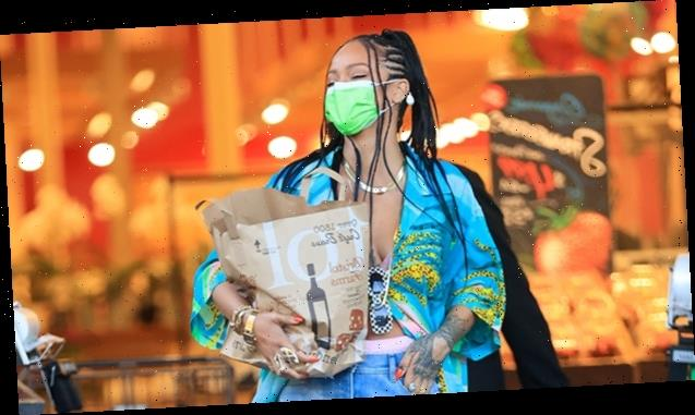 Rihanna Bags Her Own Groceries While Rocking Gorgeous Braids & A Mini Skirt On Shopping Trip
