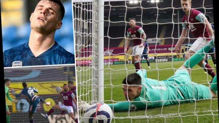 Burnley 1 Arsenal 1: Granit Xhaka's howler along with VAR handball controversy sees Gunners draw at Clarets