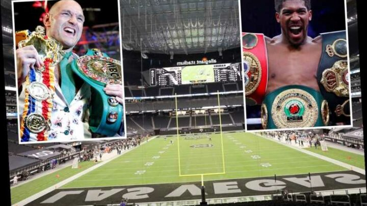 Anthony Joshua fight with Tyson Fury could be held at 72,000 Allegiant Stadium in Las Vegas after agreement for clash