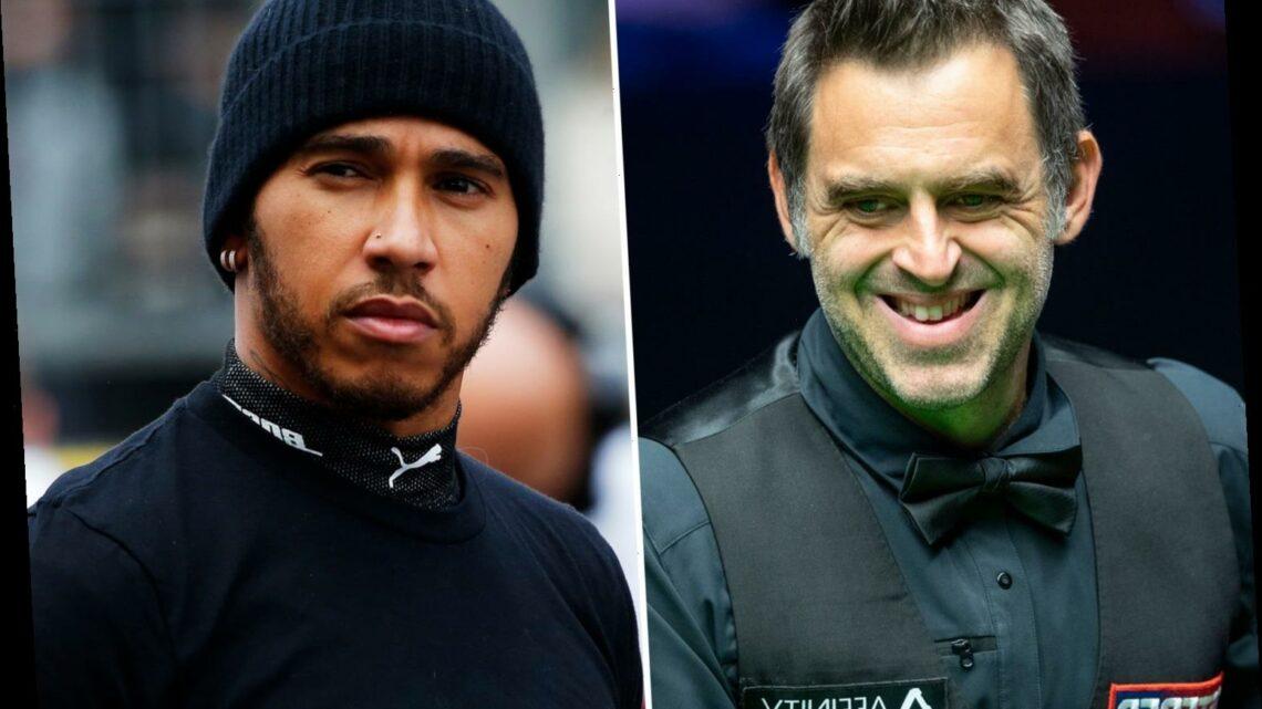 Ronnie O'Sullivan snubs Lewis Hamilton from seven-man sport GOAT list despite F1 world champion bagging knighthood