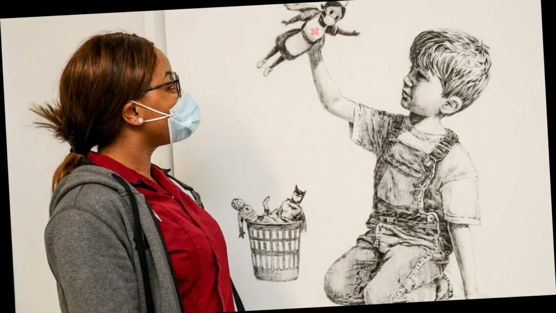 Banksy painting honoring COVID-19 health workers raises $23 million for UK health charities
