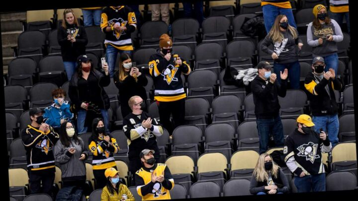 Penguins under fire for photoshopping masks on to fans in social media photo