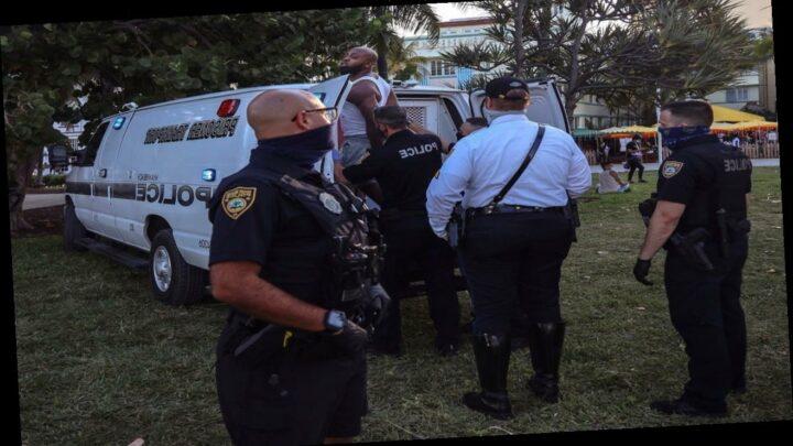 Miami Beach police have seized more than 100 guns this spring break season, officials say