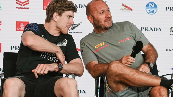 America's Cup 2021: Team New Zealand and Luna Rossa meet in press conference