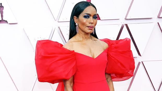 Angela Bassett Wows In Red In Dramatic Oscars Dress
