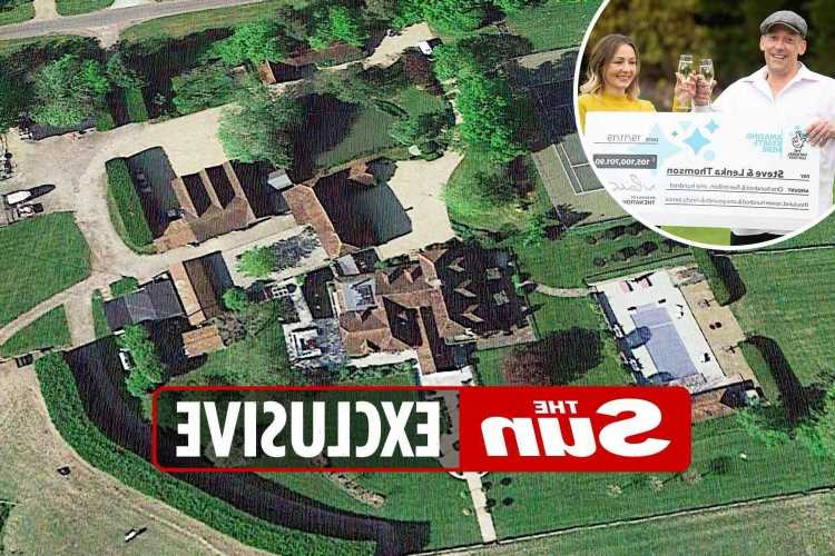 Builder who scooped £105million EuroMillions jackpot splashes out £4.5million on country estate