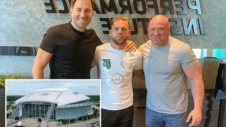 Canelo to fight Billy Joe Saunders before sell-out 60k fans in Dallas Cowboys Stadium as Eddie Hearn meets Dana White