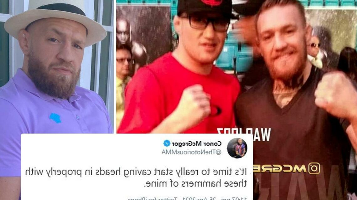 Conor McGregor threatens to start 'caving heads in' as UFC star calls out Justin Gaethje in X-rated social media rant