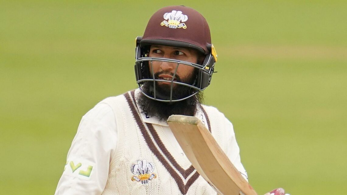 County Championship: Hashim Amla scores 215no for Surrey and Ollie Pope 131; Glamorgan thrash Kent