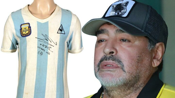 Diego Maradona Jersey from His 1st World Cup Game Hits Auction Block