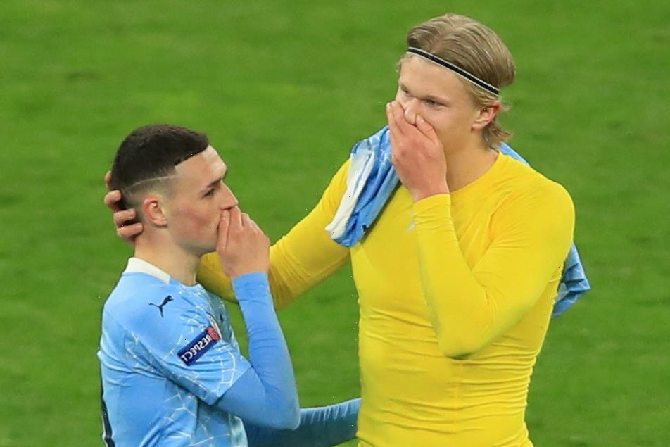 Erling Haaland gets hands on Man City shirt and has another chat with Phil Foden after Dortmund are dumped out of Europe