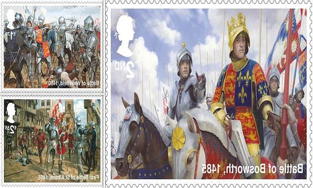 Fighting knights appear on stamps to mark 550 years since key conflict