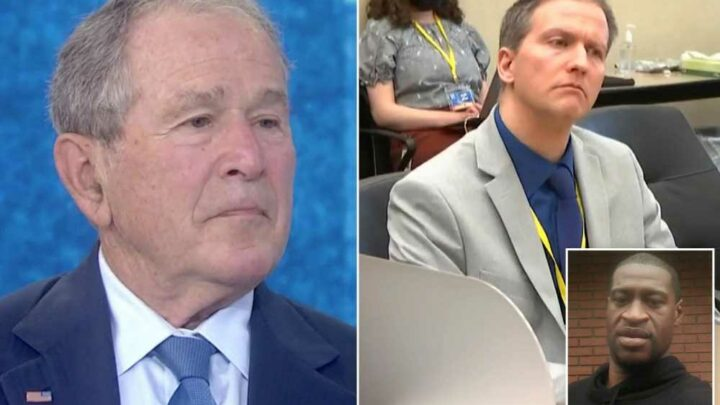 George W. Bush shares thoughts on Derek Chauvin trial as jury deliberates
