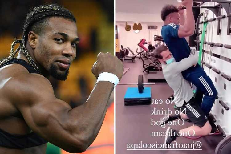 Inside Adama Traore's crazy strength training regime as Wolves star tackles pull-up bars with man clinging to him