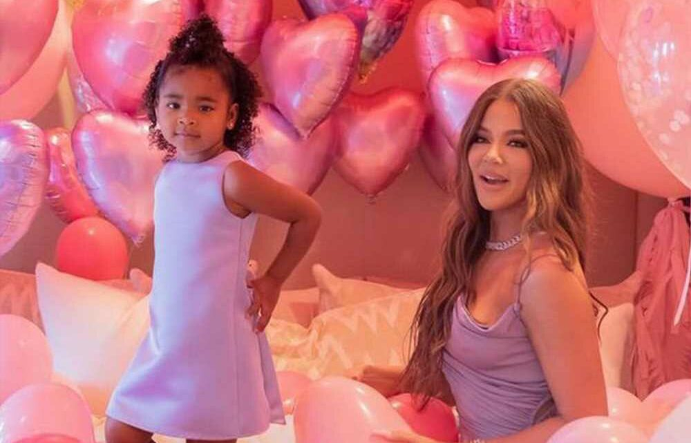 Khloé Kardashian matches with daughter True at her 3rd birthday party