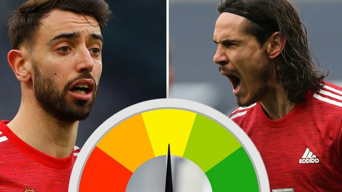 Man Utd player ratings: Edinson Cavani shows his class once again but Bruno Fernandes has a shocker in Spurs win
