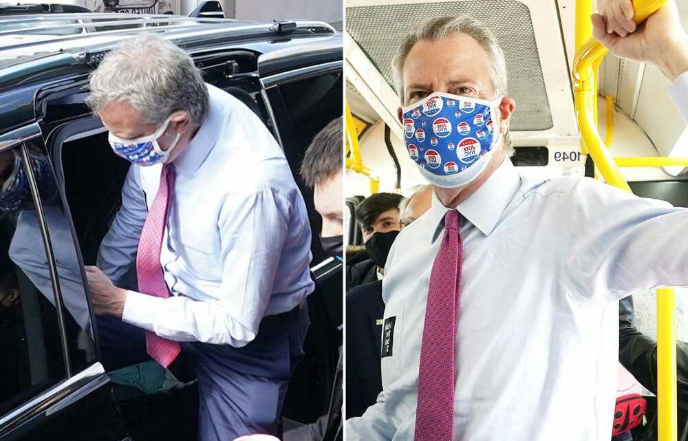 Mayor de Blasio can't remember the last time he rode a bus