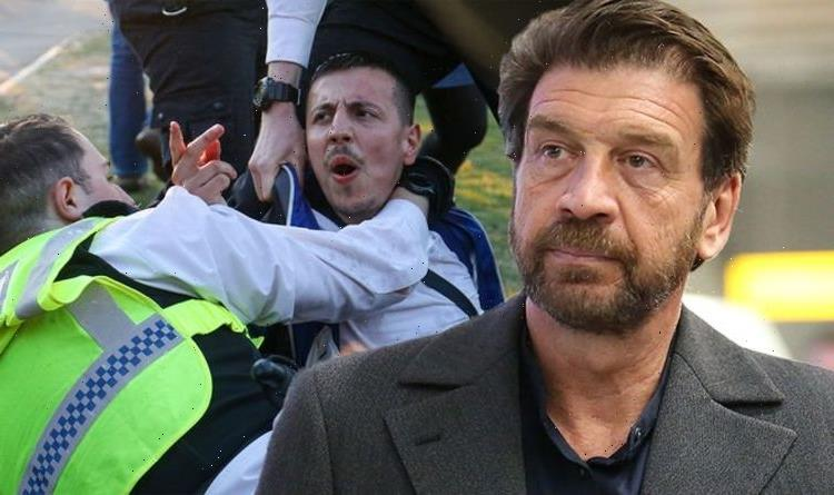 Nick Knowles slams anti-lockdown protesters as he urges police take control in 'riot gear'