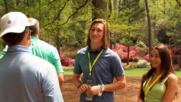 Patrick Mahomes Hangs With Trevor Lawrence At The Masters
