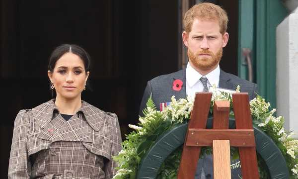 Prince Harry and Meghan send wreath and handwritten note for Prince Philip's funeral
