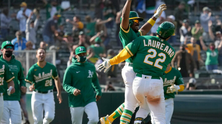 The A's Bust and Boom Their Way to First Place