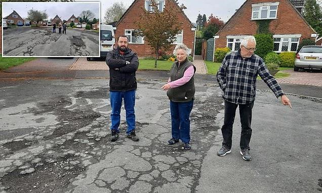 Villagers' pothole nightmare continues after 'joke' council's decision