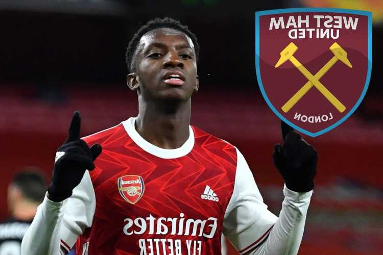 West Ham hope to pull off Eddie Nketiah transfer after Arsenal striker Folarin Balogun's contract U-turn