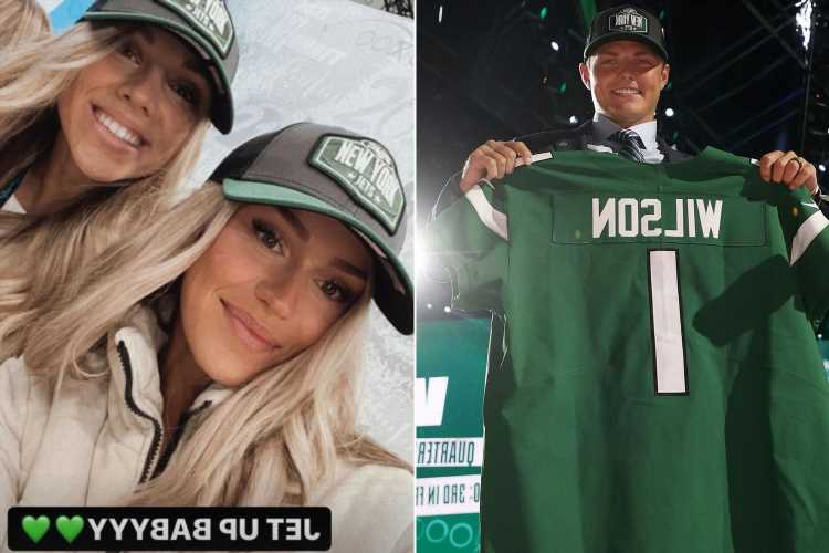Zach Wilson's girlfriend Abbey Gile already sporting Jets gear at draft