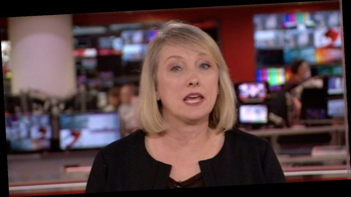 BBC news presenter changes into black outfit to announce Prince Philip's death on air