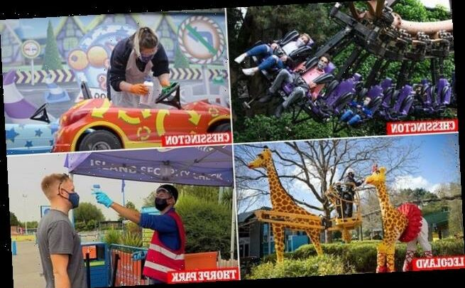 Reopening plans for Alton Towers, Thorpe Park, Legoland and London Zoo