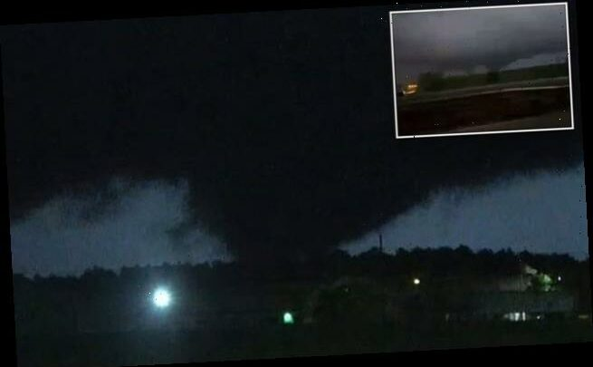 Dramatic moment tornado tears through Central Mississippi