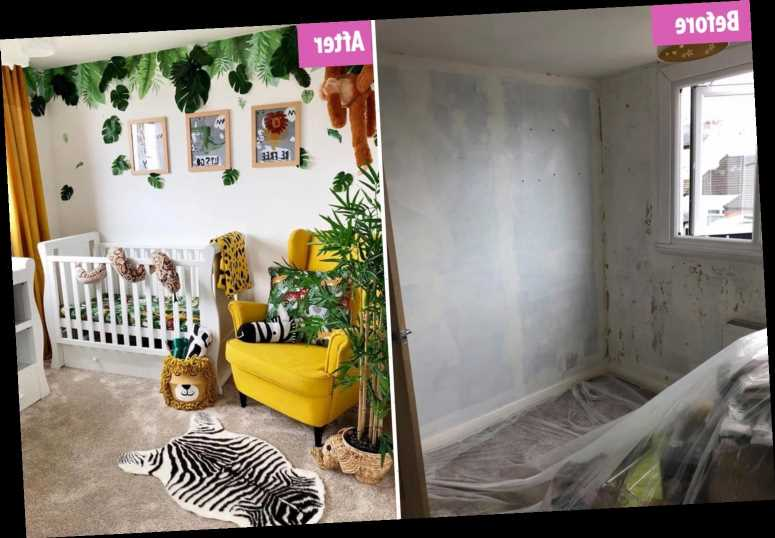 Mum reveals amazing jungle nursery she created on a budget – with bargains from B&M and eBay