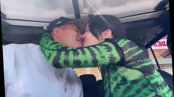 Jessie J gets hot and heavy with her new man in a car wash while listening to Justin Bieber