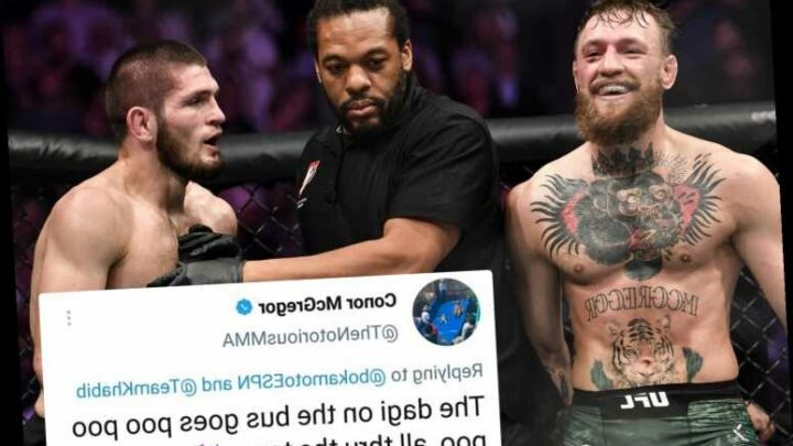 Conor McGregor trolls UFC enemy Khabib for 'pooing' himself in bus attack in now-deleted tweet