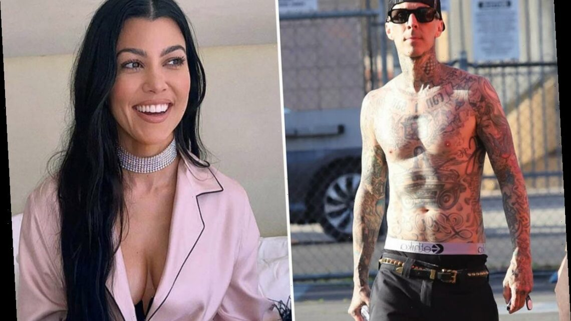 Kourtney Kardashian's new boyfriend Travis Barker gets her name tattooed over his nipple after just two months of dating