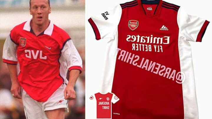 Arsenal 2021-22 home kit 'leaked' with design resembling 1998 shirt… but fans slam it as 'BTEC Ajax' strip