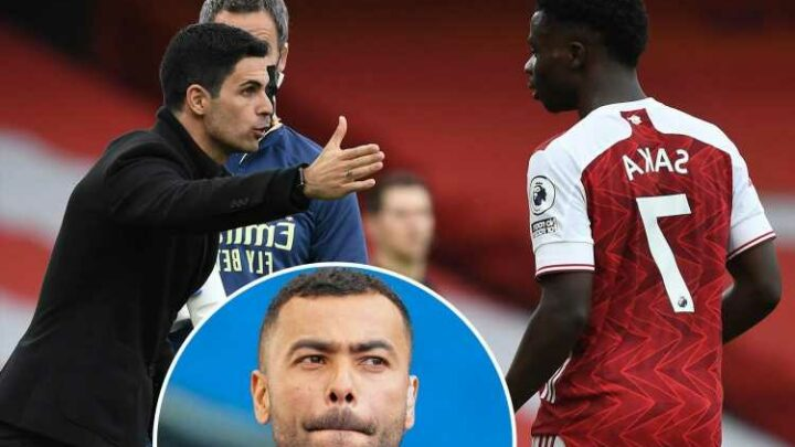 Arsenal's 'shining light' Bukayo Saka being 'used and abused' by Mikel Arteta, claims ex-Gunner Ashley Cole