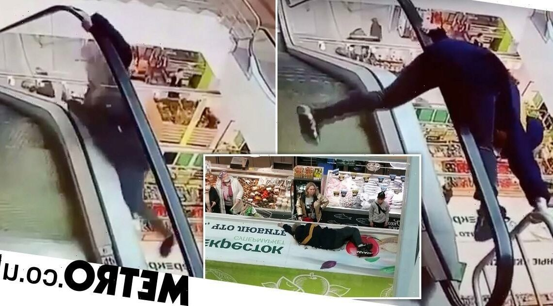 Boy, 12, falls 40ft after 'trying to ride escalator rail' at shopping centre