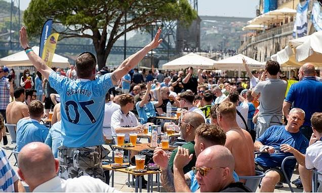 Chelsea and City fans ignore social distancing as they booze in sun