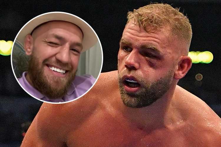 Conor McGregor appears to mock Billy Joe Saunders after posting gruesome bloody Nate Diaz shot after horror eye injury