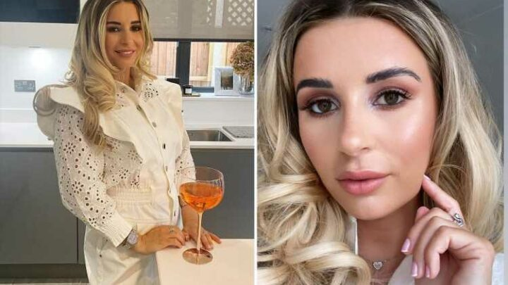 Dani Dyer glams up for cocktails as she enjoys boozy bank holiday four months after giving birth